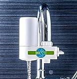 Bio Water Wasserfilter Wasserhahn mit Hahnschalter Wasser Filtersystem Leitungswasser Trinkwasser Filter Küche Wasserreiniger (Wasserfilter)