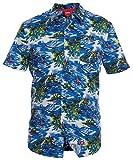 Duke Homme Kingsize Palmier Hawaïen Déguisement Plage Vacances Chemise, blue, 5XL