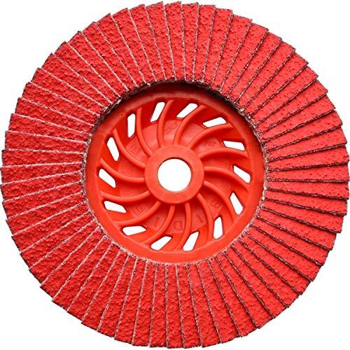 Dronco 5112426100Osborn Evolution j-ak ceramica grain disco lamellare, dritto, 60, grana, 125mm x M14diametro foro, 12200rpm (confezione da 10)