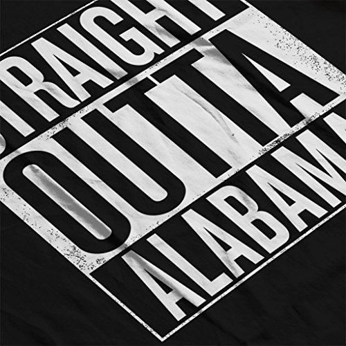 Coto7 White Text Straight Outta Alabama US States Women's Vest Black
