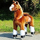"""Ponycycle """" Amadeus """" Pferd hell braun, Pony auf Rollen fahrendes Schaukelpferd und Kuscheltier für Ihr Kind von MyPony"""