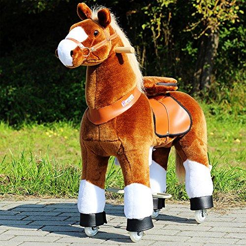 """Ponycycle """" Amadeus """" Pferd hell braun, Pony auf Rollen fahrendes Schaukelpferd und Kuscheltier für Ihr Kind von MyPony (Medium)"""