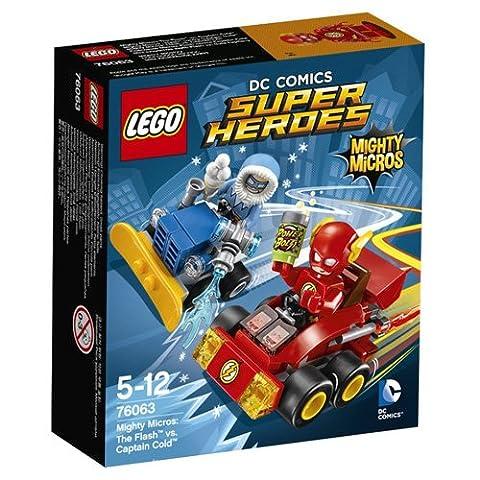 LEGO - 76063 - Super Heroes - Dc Comics - Jeu de Construction - Mighty Micros : Flash contre Captain