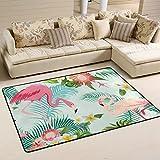 ingbags Leaf Blume Flamingos Wohnzimmer Essbereich Teppiche 3x 2Füße Bed Room Teppiche Büro Teppiche Moderner Boden Teppich Teppiche Home Decor, multi, 3 x 2 Feet