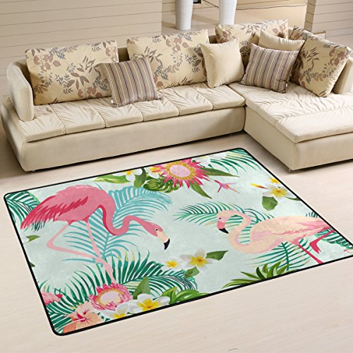 ingbags Leaf Blume Flamingos Wohnzimmer Essbereich Teppiche 3x 2Füße Bed Room Teppiche Büro Teppiche Moderner Boden Teppich Teppiche Home Decor, multi, 3 x 2 Feet -