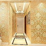 3D Stereoskopische Relief Europäischen stil selbstklebende Vliestapete, Wohnzimmer Home Office TV Sofa Hintergrund Dekoration (53 * 1000 cm)