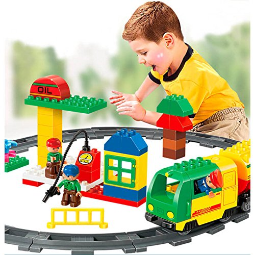 Kidoloop-Railway-Fuel-Supply-Barrel-Train-Track-Set-With-Figures-93pcs-Free-Postage