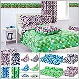 Blue & Grey Pixels Design Bedding Single Duvet Cover Set with Pillow Case
