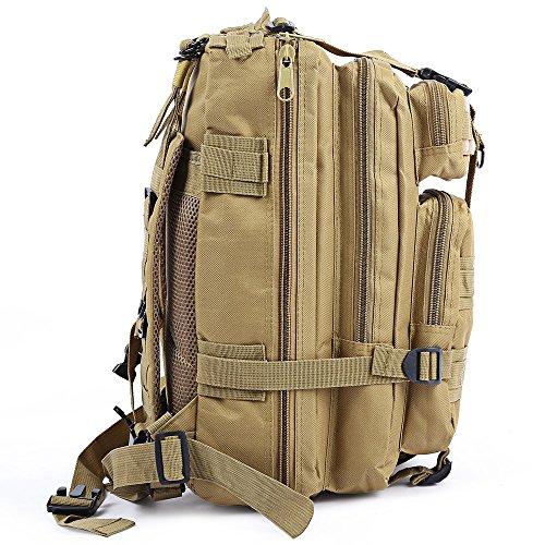 Militare tattico zaino piccolo 3Day Assault Pack Army molle Bug out bag zaini zaino per sport all' aperto escursioni, campeggio, caccia 30l, CP camouflage khaki