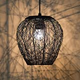 #2: Homesake A897 Wire Mesh Hanging Pendant Light (Black)