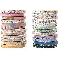 Hileyu 24 Rouleaux Washi Tape Ruban Adhésif Papier Décoratif Masking Tape pour Scrapbooking, Artisanat de Bricolage…