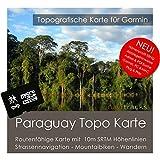 Paraguay Garmin Topo 4GB microSD. topogra pesci GPS tempo libero carta per bicicletta da trekking, escursioni trekking Geocaching & Outdoor. dispositivi di navigazione, PC e Mac