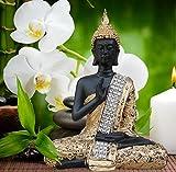 #9: TIEDRIBBONS® Buddha Idol ( 7 Inch X 4.5 Inch,Golden)