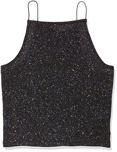 New Look Mädchen Top XM Hi NK Dot Glitter Cami, Rot (Black Pattern 9), 12 Jahre (Cami Glitter)