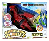 #10: RIANZ Dinosaur Planet Infrared Walking Robot T-Rex Dinosaur with Wings + Head Movement for Kids Fire Dragon (Color Red)