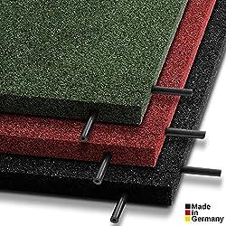 Tapis anti chute etm® Play-Protect Plus Connect en 3 coloris Made in Germany | SET de 2 pièces avec connecteurs - épaisseur 30mm | amortit les chocs - usage outdoor | 100x50cm, vert