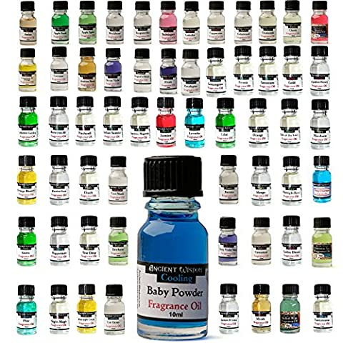 ORCHARD FRUITS Fragrance Oils - Economy Pack of Favourites - Cherry, Apple Fresh, Lemon/Lime, Peardrop, Orange - For Aromatherapy and Oil