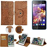 K-S-Trade 360° Cover cork Case for Wiko Highway Signs |