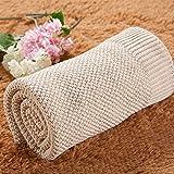 Upstudio Warme Schlafsofa Decke Babydecke, Mutter und Baby, Komfortdecke, Baumwollstrickdecke für Textilkinder (Farbe: Beige, Größe: 120 * 180 cm)