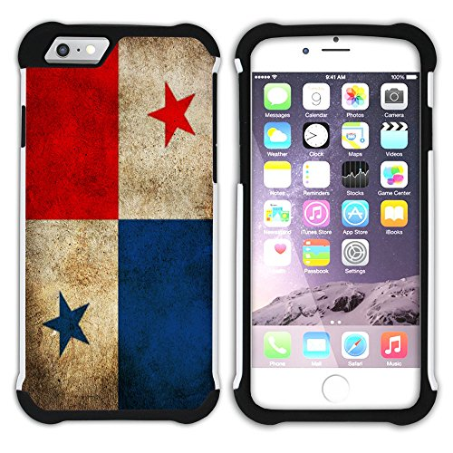Graphic4You Vintage Uralt Flagge Von Dominikanische Republik Design Hart + Weiche Kratzfeste Hülle Case Schale Tasche Schutzhülle für Apple iPhone 6 Plus / 6S Plus Panama Panamaisch