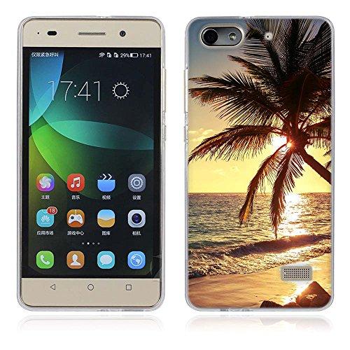 Huawei Honor 4C Hülle, Fubaoda Schöne und romantische Landschaft Serie TPU Case Schutzhülle Silikon Case für Huawei Honor 4C (G Play Mini)