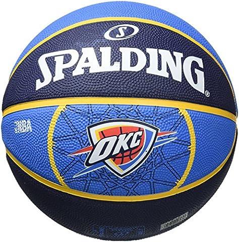 Spalding Ballon NBA Team Oklahoma City 83–165z, Orange/Bleu, 7, 3001529017917