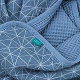 Urban Kanga Babydecke | Kuscheldecke | Krabbeldecke | Wickeltuch aus 100% Baumwolle | 2 Lagige 100 X 70 cm (Blauer Geo) Test