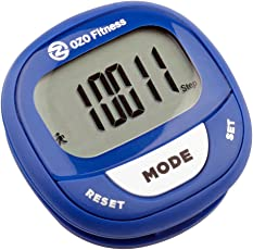 OZO Fitness SC2 Digital Pedometer Best Pedometer for Walking. Accurately Track Steps and Miles Calories Burned Speed. Fitness Tracker Calorie Counter for Men Women Get Your Step Counter Today Blue