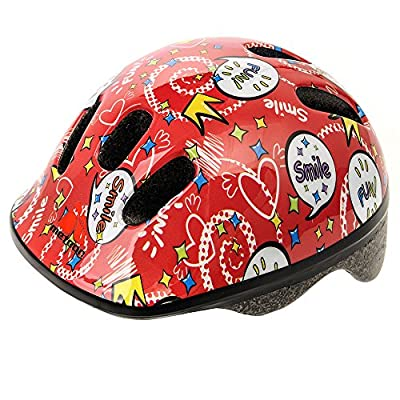 Baby Kids childrens Boys Cycle Safety Crash Helmet Small size (Smile, 44-48 cm)