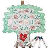 Geschenke 24: Holz Puzzle Baum zum Beschriften - kreative Hochzeitsgeschenke selber Gestalten - EIN originelles Hochzeitsspiel für Brautpaare