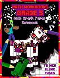 Math Workbooks Grade 5: Math Graph Paper Notebook: 1/2 inch Squared Graph Paper for Drawing, Sketching or Math (kindergarten math, Band 1)