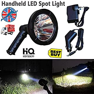 T6 LED Camping Hiking Lights Hunting Work Handheld Spotlight Lamping Shooting Rechargeable with Built-in Battery 12V Portable Super Power Light