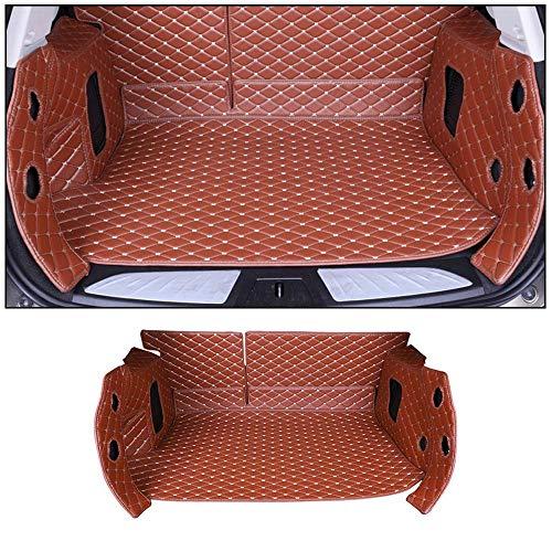 SHUNAN-EU Auto Leder Kofferraum Matte Teppiche Matte Exklusiv für Corolla 14-18 SeitenBodenbedeckung Allwetterschutz, Wasserdichtes, Anti Rutsch Abriebfest Set Brown (Matte Kofferraum Corolla)