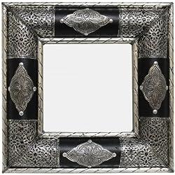 Unbekannt Marrakech Accessoires–Espejo ALP ACCA/Piel N1(40x 40cm)