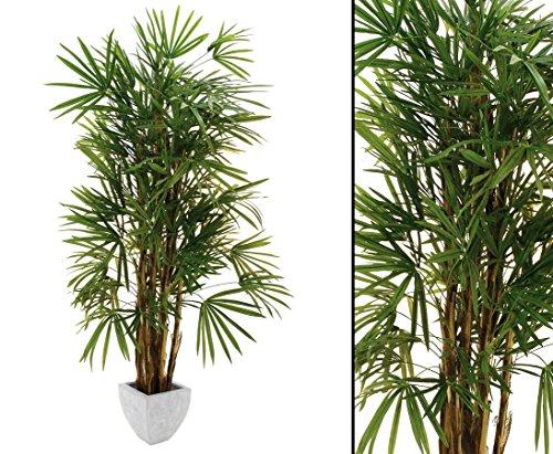 Steckenpalme, Kunstpalmen mit 1635 Blätter, Höhe ca. 220cm – Deko Palme Deko Pflanzen