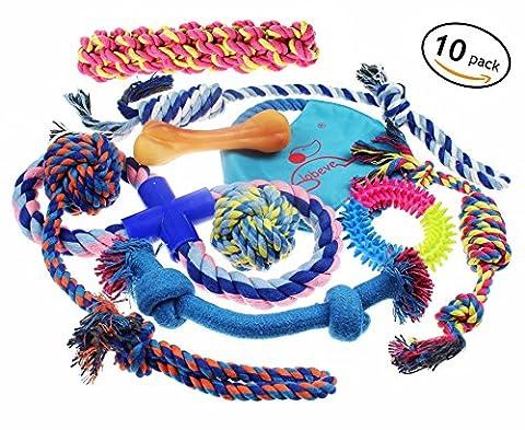 lobeve Hund Spielzeug 10Stück Geschenk Set, Vielzahl Haustier Hunde Spielzeug-Set für mittlere bis kleine Hund