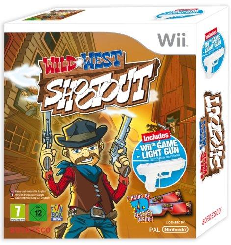 Wii Wild West Shootout + Light Gun (Guns Wild)