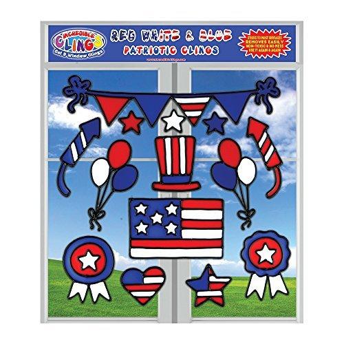 Für Flagge-aufkleber Große Auto Amerikanische (Incredible Clings USA-Gel haftet für Kinder, Kleinkinder, jungen und Mädchen - (23 pc) amerikanische Flagge, Band und patriotischer Wand und Fenster klammert - wiederverwendbar)