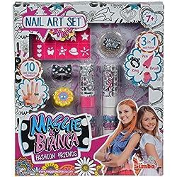 Simba - 109273059 - Maggie & Bianca - Nail Art Coffret Basic - Set de Manucure + Accessoires