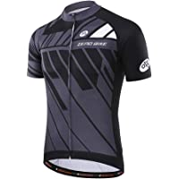 Men's Short Sleeve Breathable Cycling Jersey, Quick-Dry Biking Shirt Biking Cycle Tops Racing Bicycle Clothes