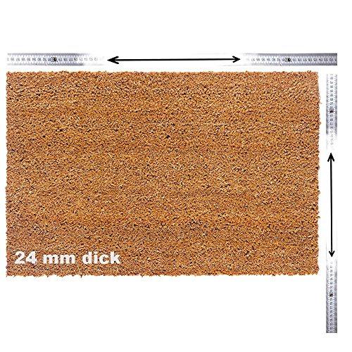 Kokosmatte nach Maß | Kokos Fußmatte mit Zuschnitt auf Maß | Stärke: 24mm, Breite: 40-120 cm,...