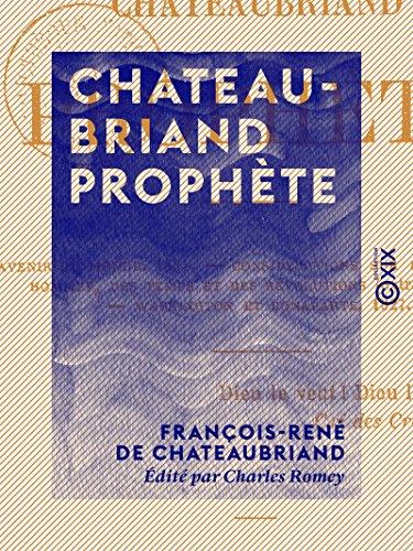 Couverture du livre Chateaubriand prophète
