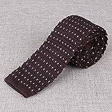 Mantieqingway 6cm Mens Skinny Tie Neckwear Casual Business Suits Slim Ties Gravatas Classic Polka Dots Knitted Ties : 021