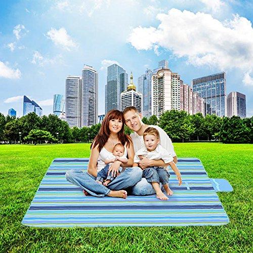 Daxstar impermeabile pieghevole da picnic coperta, camping spiaggia mat 200 x 200 cm tappeto per attività all'aperto