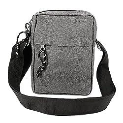 Men's Canvas Small Shoulder Messenger Rucksack Backpack School Travel Bag Satchel Organiser Utility Cross Body Daysack