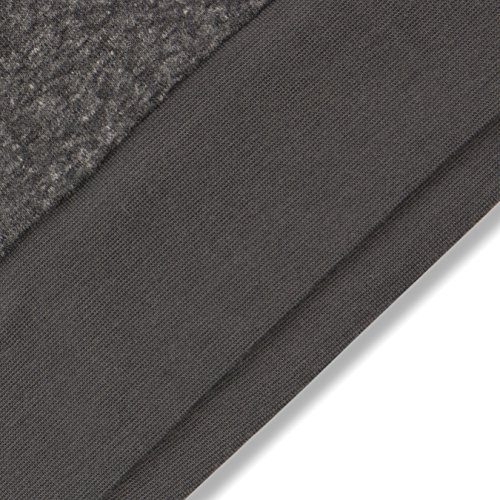 Mick Morrison Herren Sweatshirt mit Print Grau (schwarz Melange 073)