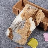 Colorful Rabbit Fur Diamante TPU Back Tasche Hüllen