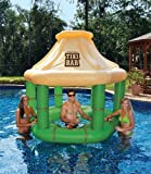 7.5' Water Sports Inflatable Floating Tropical Tiki Bar for Swimming Pool by Swim Central