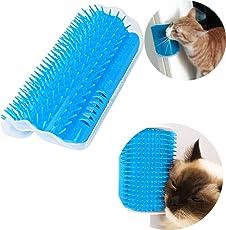 NEEDOON Self Groomer mit Katzenminze Pouch, Katze Self Groomer Wall Corner Massage Groomers Katze selbst Grooming Brush