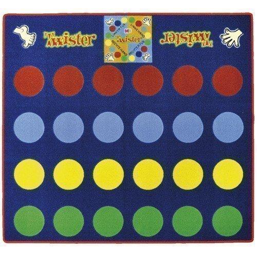 Eduplay Spielteppich Twister ca. 145 x 133 x 0,5cm, inklusive Zeiger